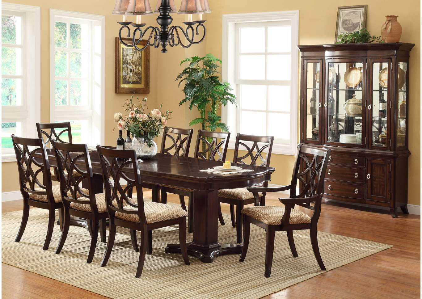 ivan smith katherine rectangular dining room table w 6