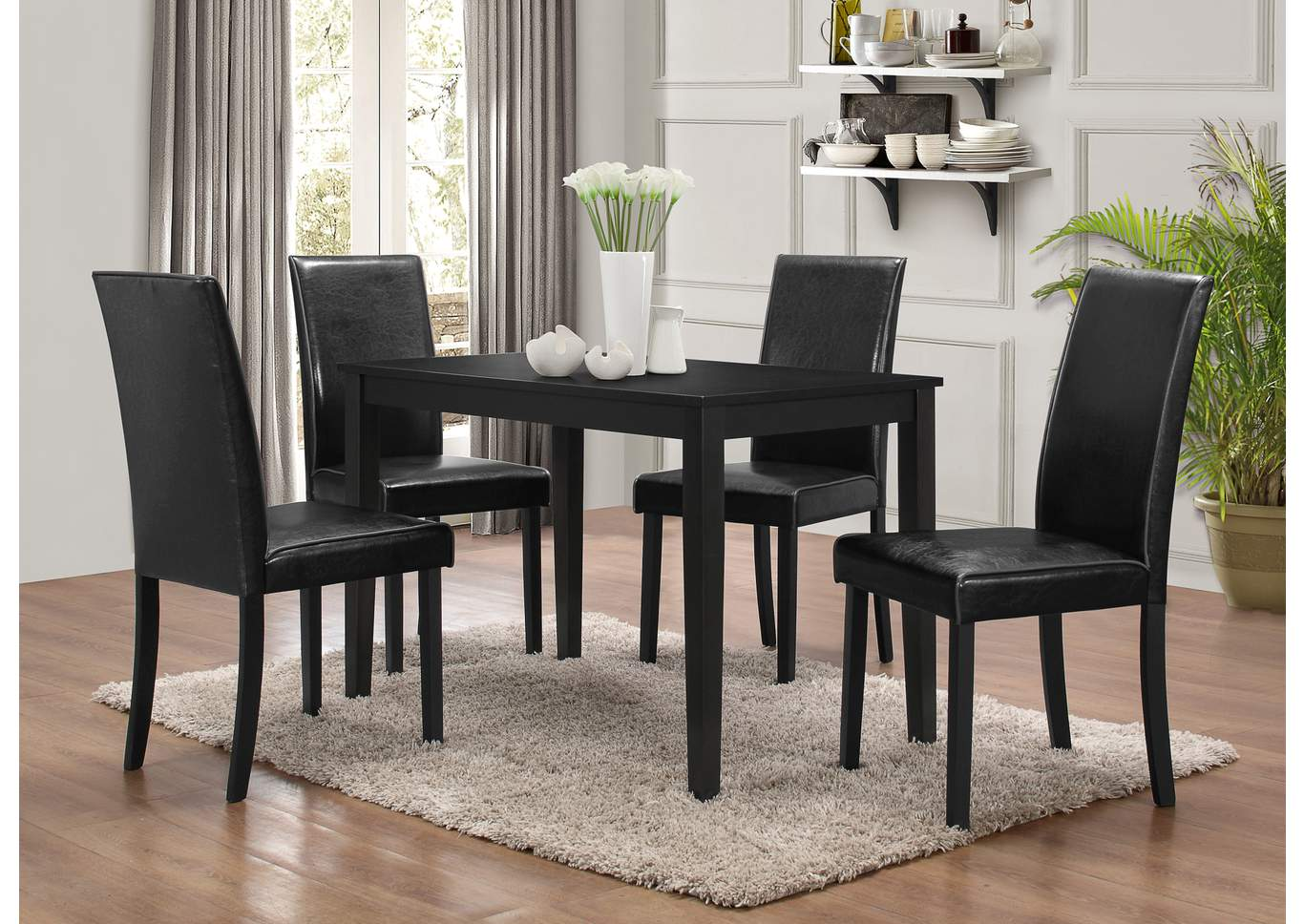 ware house furniture sydney black 5 pack dinette table set