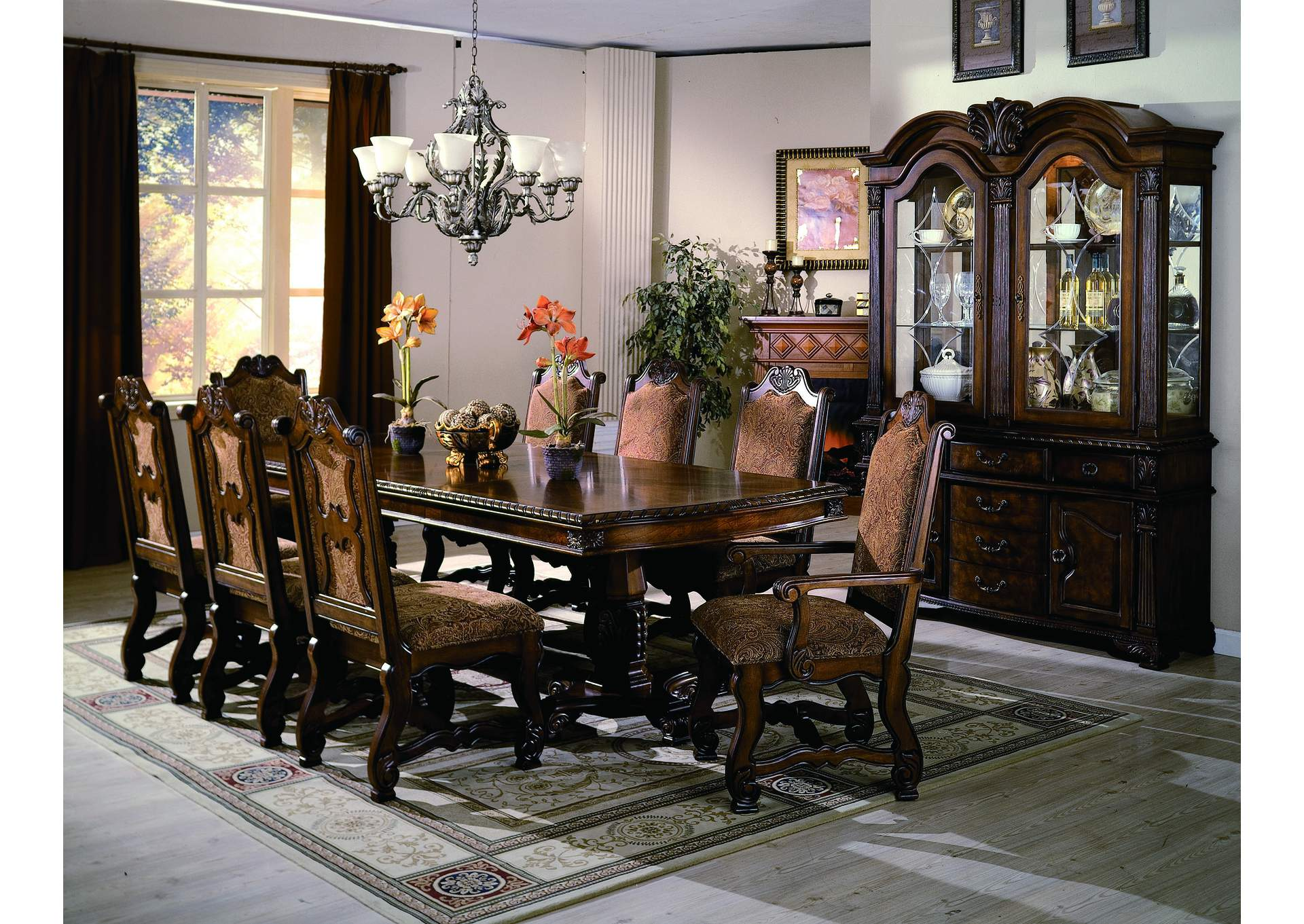 Affordable Furniture - Houston Neo Renaissance Dining Table w/4 ...