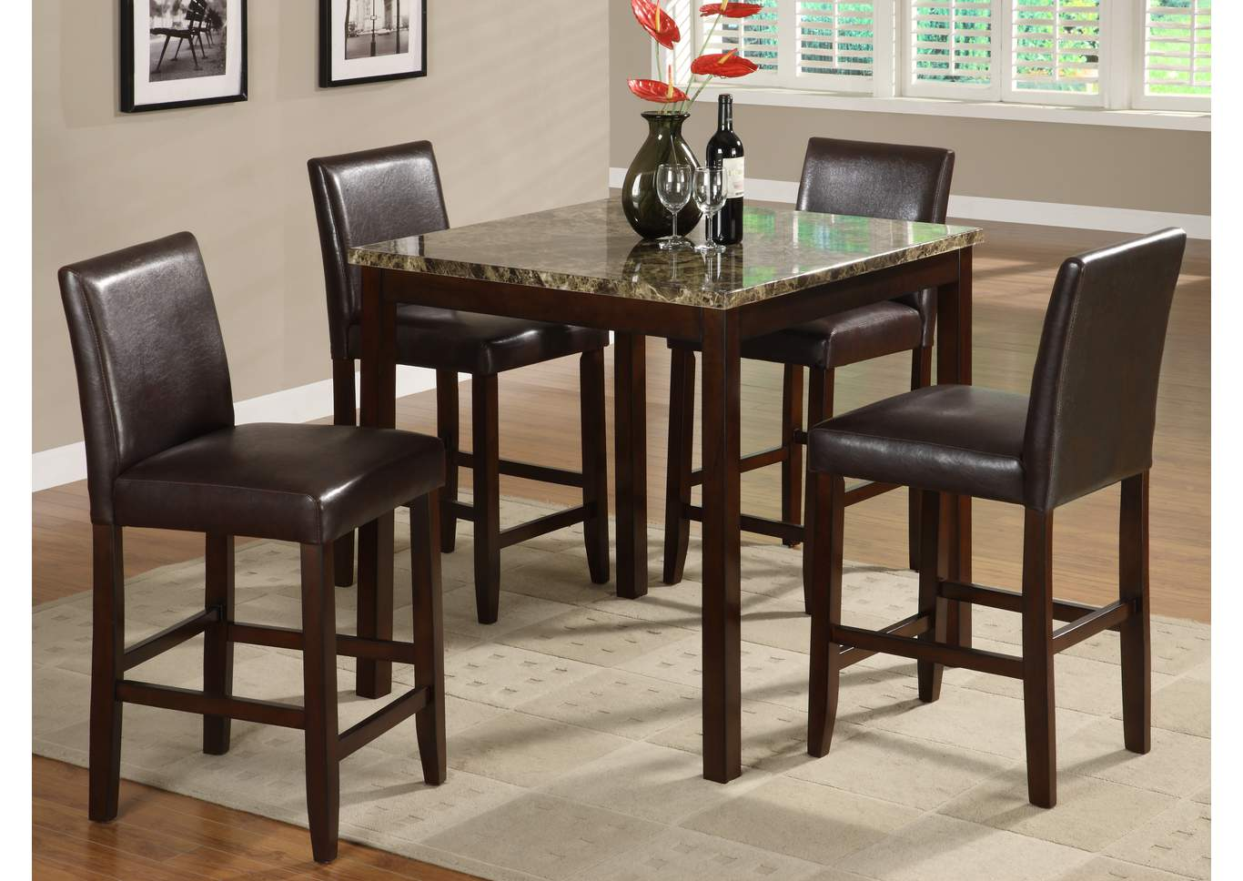 Crown Mark Dining Room Anise Counter Height Dining Room Table