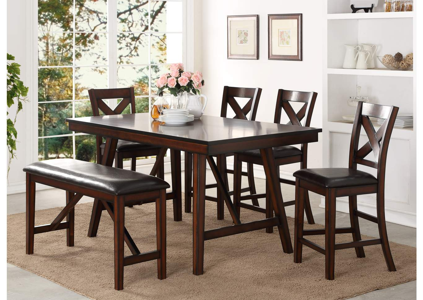 Virginia Furniture Co Vernon Counter Height Dining Table W 4 Side