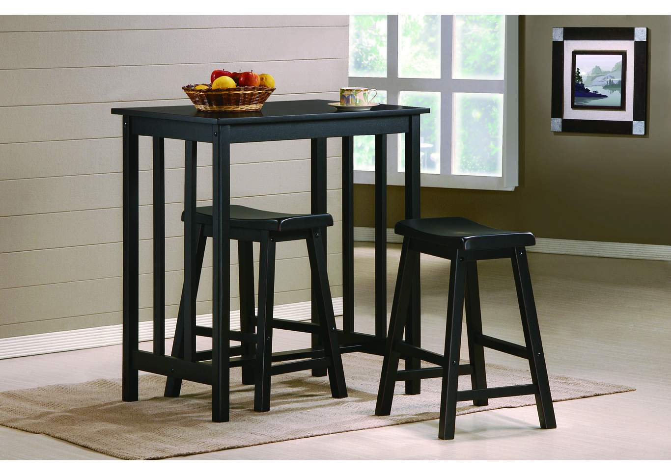 Dina Counter Height Table Set w/ 2 Stools,Crown Mark