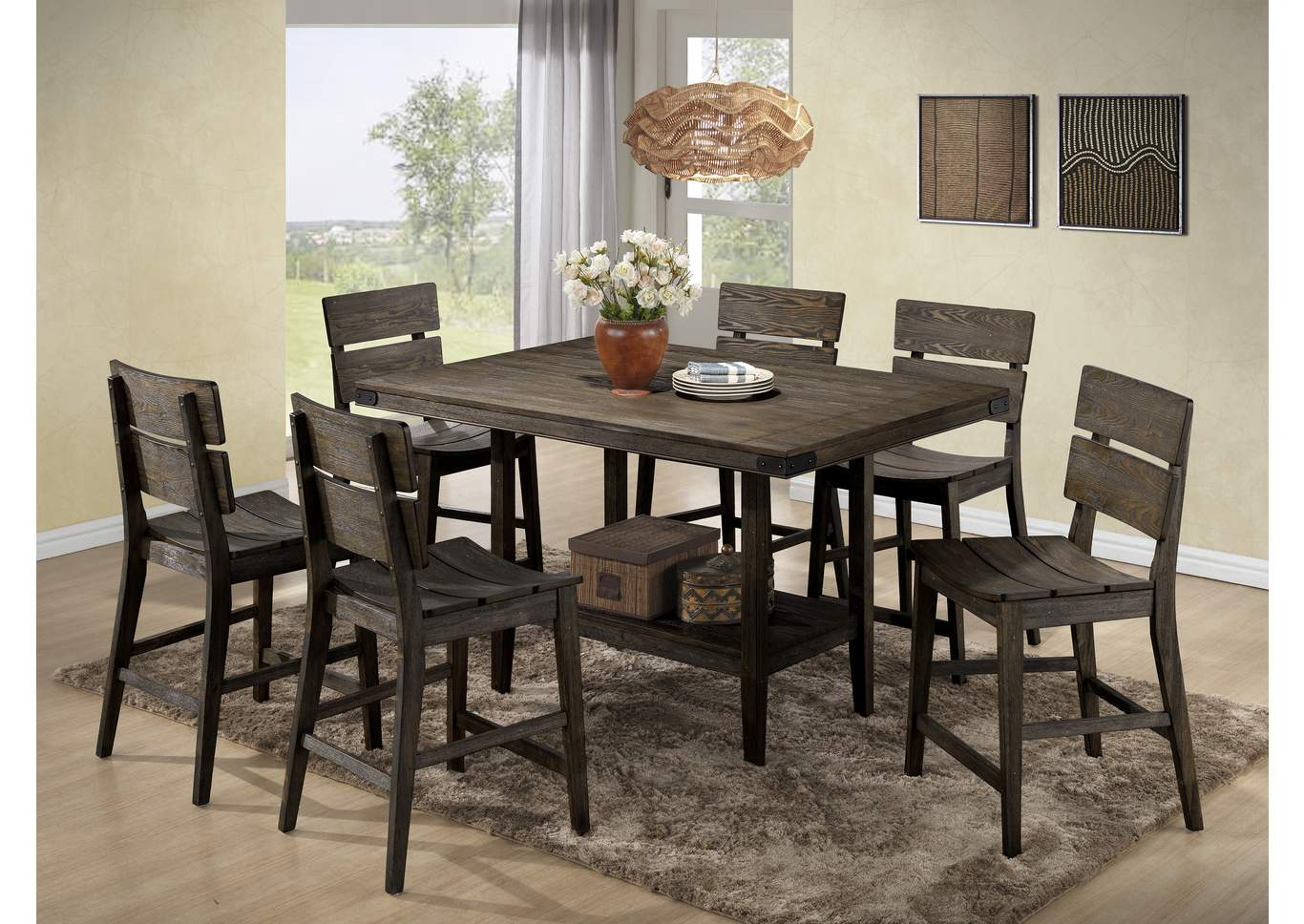 Adams Furniture And Appliance Brandon Counter Height Dinette Table