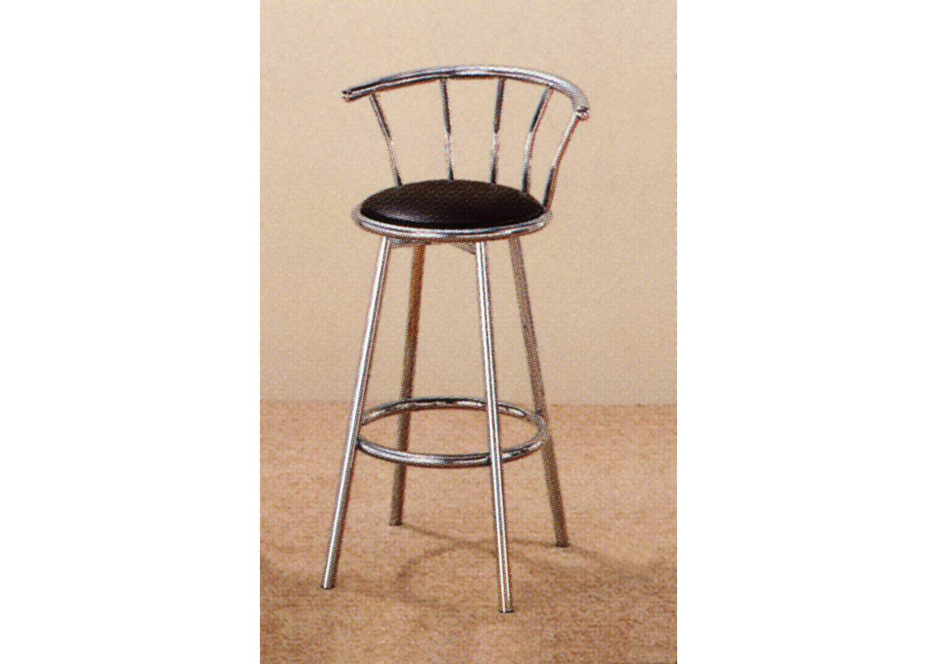 Swivel Chrome Barstool (Set of 2),Crown Mark