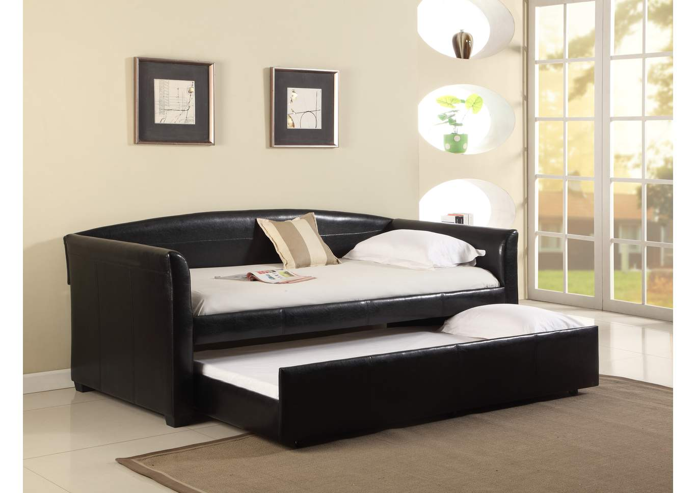 Tranquil Black Daybed,Crown Mark