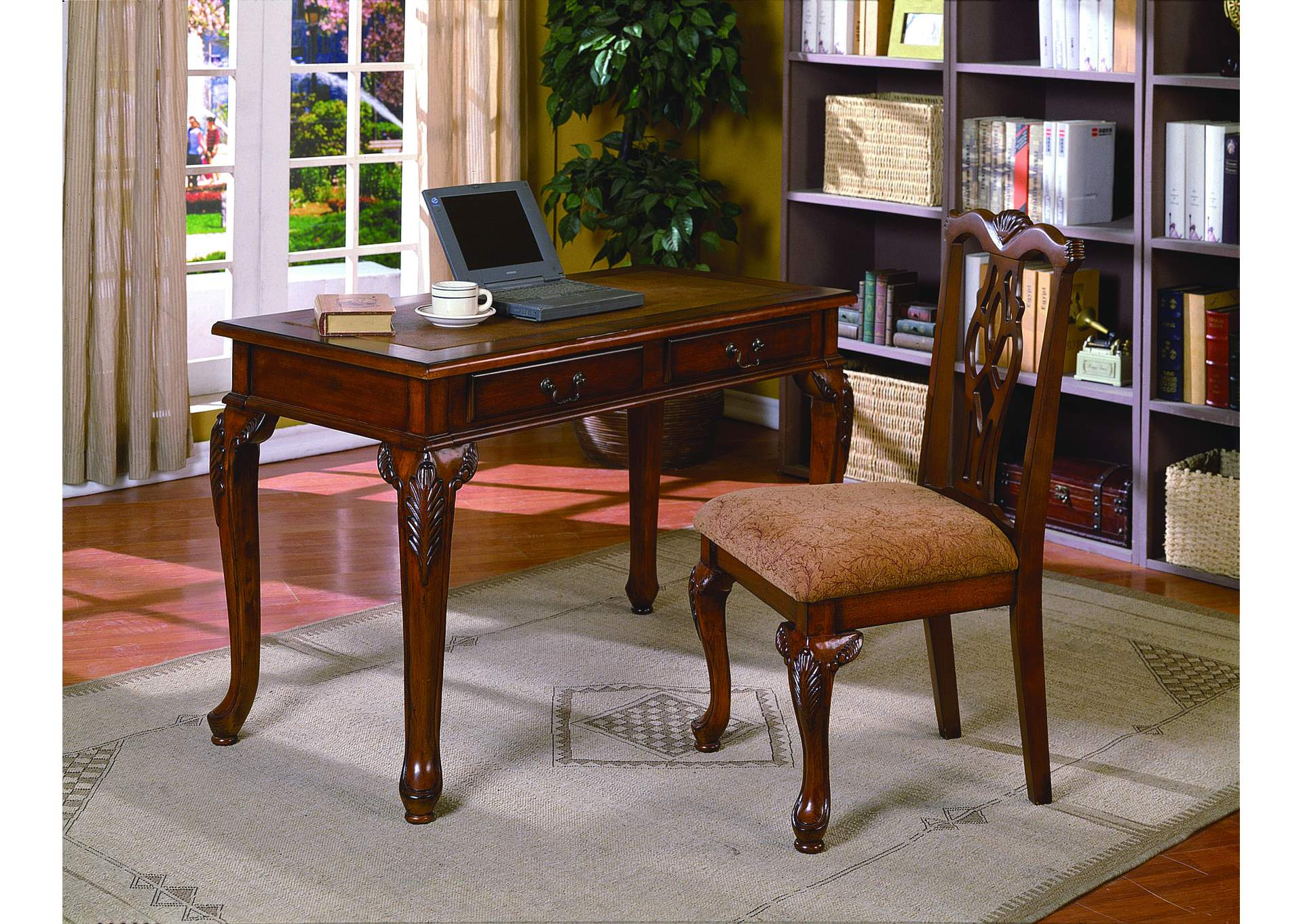 Meyers tabakin inc fairfax home office desk chair set for Furniture markup