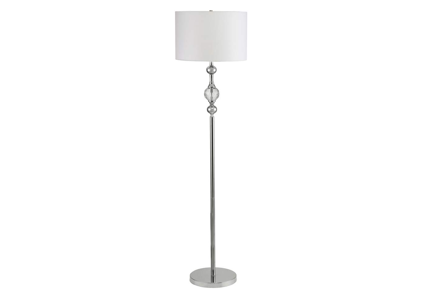 Chrome w/Faceted Crystal Floor Lamp,Crown Mark