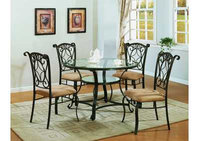 Jessica Round Dining Room Table w/4 Side Chairs