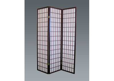 Cherry 3 Panel Wood Room Divider