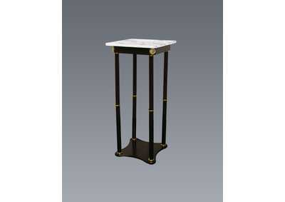 Square White Marble Stand,Crown Mark