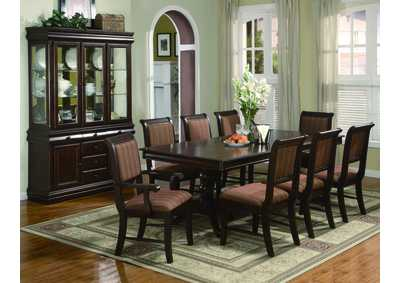 Bon Merlot Rectangular Dining Table W/4 Side Chairs