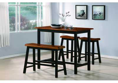 Tyler Counter Height Dining Room Table w/3 Stools,Crown Mark