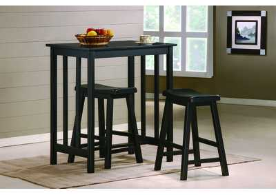 Dina Counter Height Table Set w/ 2 Stools