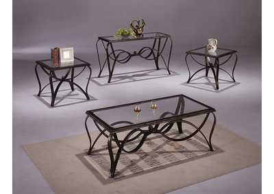 Monarch Glass Occasional Table Set (Cocktail & 2 Ends)