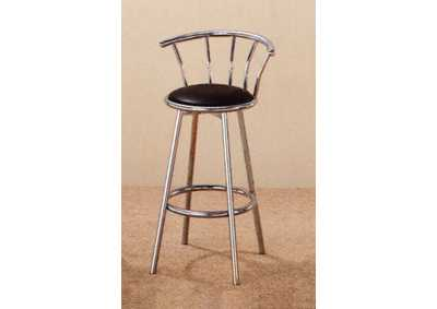 Swivel Chrome Barstool (Set of 2)