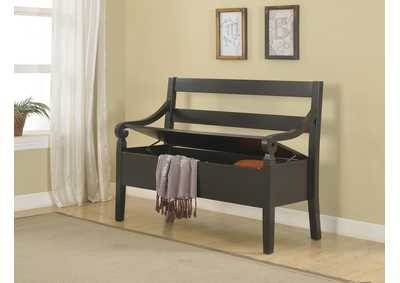 Kennedy Black Storage Bench
