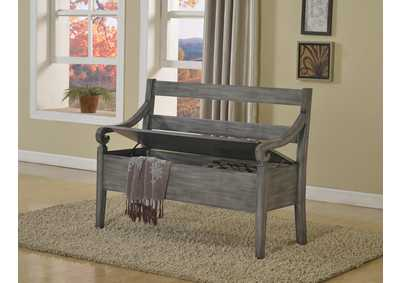 Kennedy Grey Storage Bench