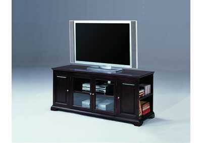 Harris Espresso Entertainment Console w/ Storage,Crown Mark