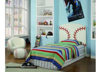 Baseball Twin Headboard