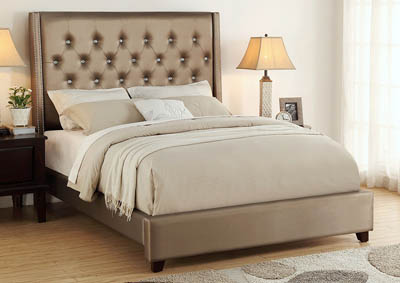Fontaine Bronze Upholstered King Bed