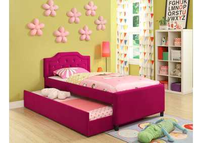Amelia Twin Bed w/Trundle,Crown Mark