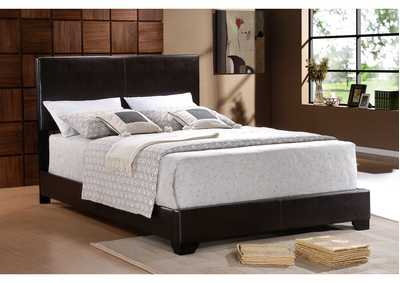 Erin Black Upholstered Queen Bed,Crown Mark