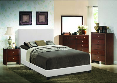 Erin Khaki Upholstered Platform Twin Bed