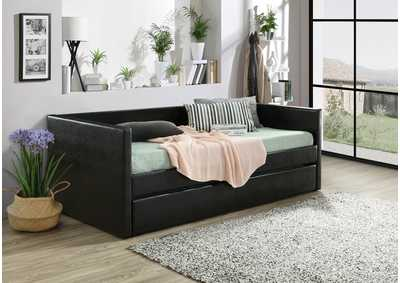 Sadie Black Upholstered Daybed