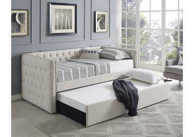 Trina Ivory Upholstered Daybed