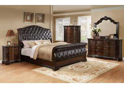 Sheffield Upholstered King Sleigh Bed