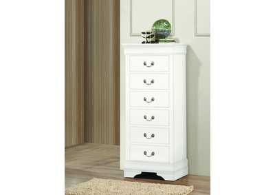 Louis Philip White Lingerie Chest w/Hidden Drawer,Crown Mark