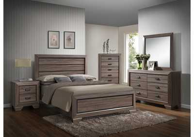 Farrow King Bed w/Dresser, Mirror and Nightstand