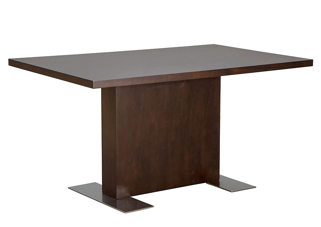 Rectangle Dining Table in Java Veneer with Stainless Steel Base,Diamond Sofa