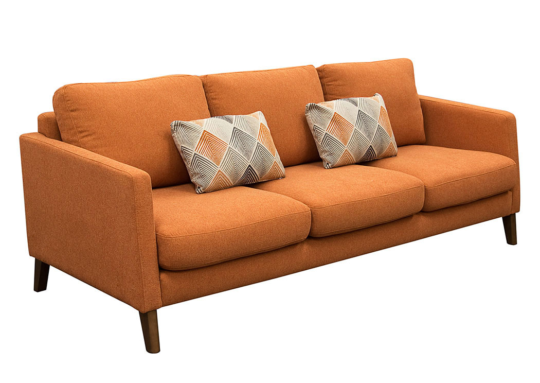 Keppel Solid Fabric Loveseat with Accent Pillow,Diamond Sofa