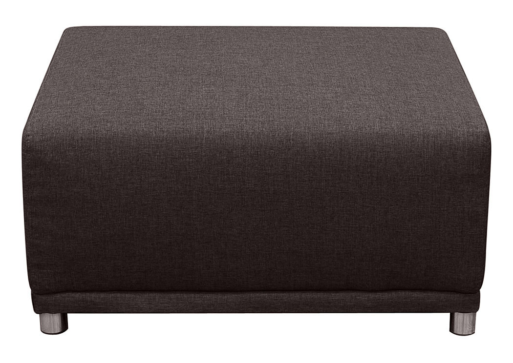 Moderna Square Ottoman In Chocolate,Diamond Sofa