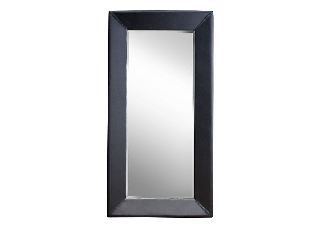 Quality Furniture Wa Zen Accent Floor Mirror Wrapped In