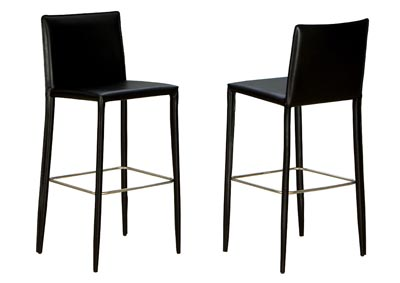 Contemporary Bar Stool with Chrome Base