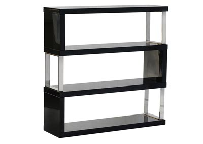 Low Profile Shelf Unit In Black