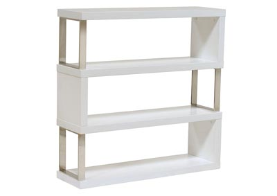 Low Profile Shelf Unit In White