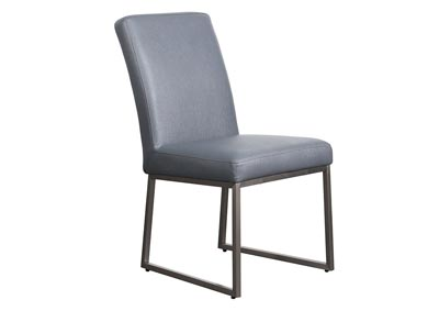 Set of Two Grey Dining Side Chairs