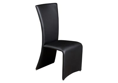 Set of Two Black Dining Side Chairs