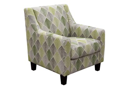 Avoca Patterned Fabric Accent Chair
