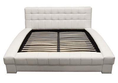 Belaire Queen Bonded Leather Tufted Bed