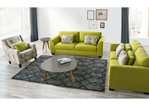 Stradbrook Solid Fabric Sofa & Loveseat with Accent Pillows