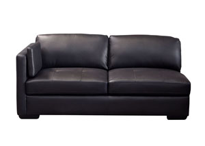 Urban Left Facing Chaise In Black