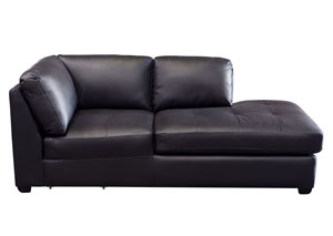 Urban Right Facing Chaise In Black