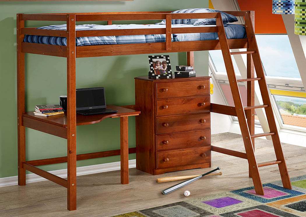 Irving Blvd Furniture Tall Student Loft Corner Desk Top