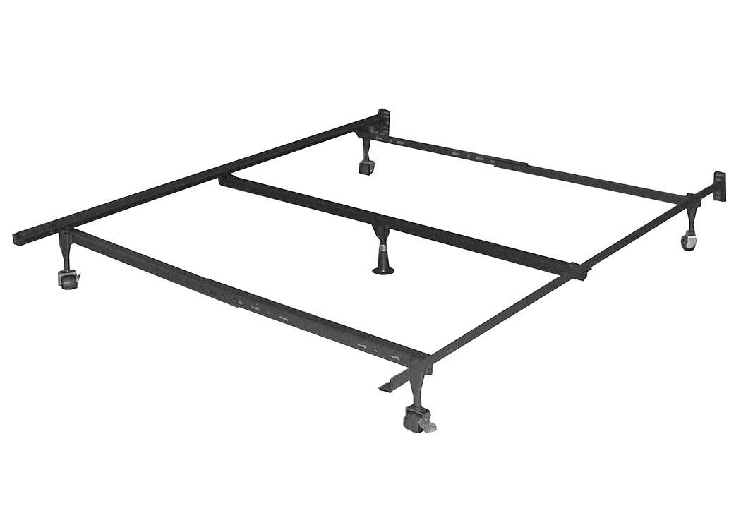 Your Cost Furniture Queen Metal Bed Frame w/Center Support Frame