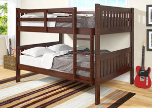 Full/Full Dark Cappuccino Bunk Bed
