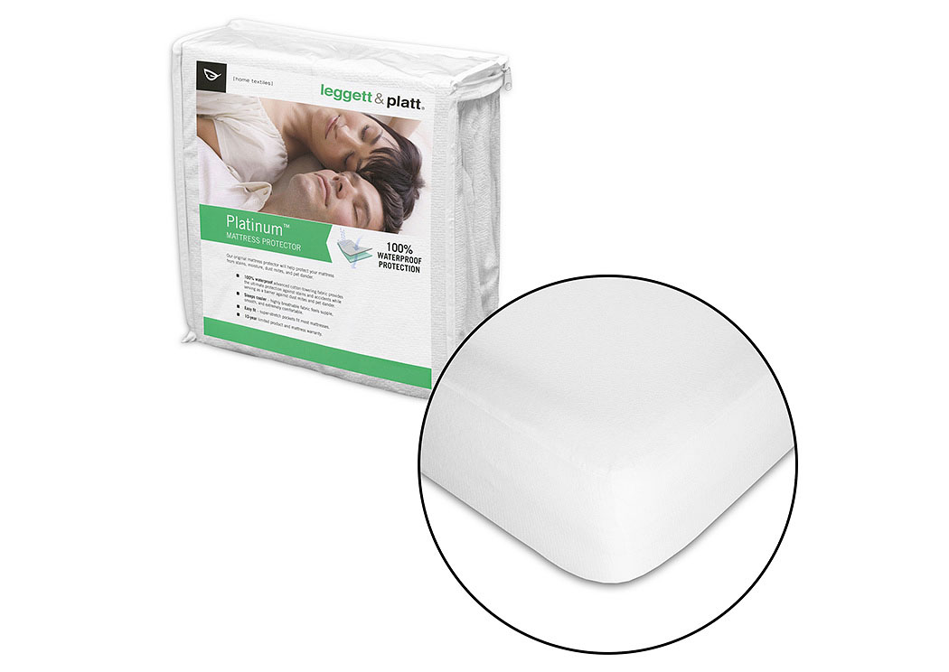 Platinum White Twin Mattress Protector,Fashion Bed Group